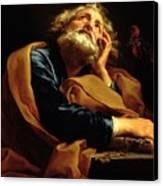 St Peter Canvas Print by Pompeo Girolamo Batoni