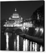 St. Peters At Night Canvas Print by Donna Corless