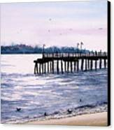 St. Simons Island Fishing Pier Canvas Print by Sam Sidders