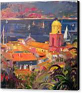 St Tropez Sailing Canvas Print by Peter Graham