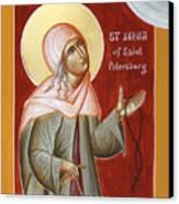 St Xenia Of St Petersburg Canvas Print by Julia Bridget Hayes