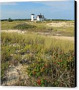 Stage Harbor Lighthouse Cape Cod Canvas Print by John Burk