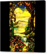 Stained Landscape Canvas Print by Donna Blackhall