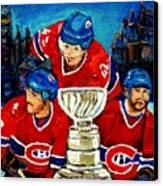 Stanley Cup Win In Sight Playoffs   2010 Canvas Print by Carole Spandau
