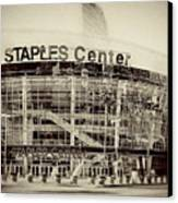 Staples Center Canvas Print by Ariane Moshayedi