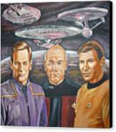 Star Trek Tribute Enterprise Captains Canvas Print by Bryan Bustard