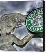 Starbucks Coffee Canvas Print by Spencer McDonald