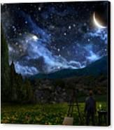 Starry Night Canvas Print by Alex Ruiz