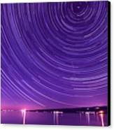 Starry Night Of Cayuga Lake Canvas Print by Paul Ge