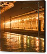Station At Night Canvas Print by Tony Grider