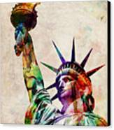 Statue Of Liberty Canvas Print by Michael Tompsett
