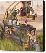 Steam Powered Rodent Remover Canvas Print by Jeff Brimley