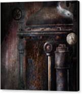 Steampunk - Handling Pressure  Canvas Print by Mike Savad