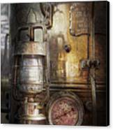 Steampunk - Silent Into The Night Canvas Print by Mike Savad