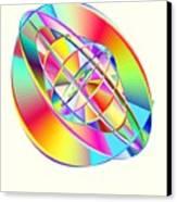 Steampunk Gyroscopic Rainbow Canvas Print by Michael Skinner
