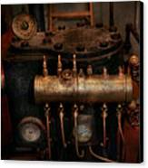 Steampunk - Plumbing - The Valve Matrix Canvas Print by Mike Savad