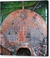 Steel Heart Canvas Print by Chris Steinken