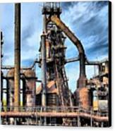 Steel Stacks Bethlehem Pa. Canvas Print by DJ Florek