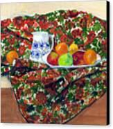 Still Life With Fruit Canvas Print by Ethel Vrana