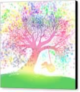 Still More Rainbow Tree Dreams 2 Canvas Print by Nick Gustafson