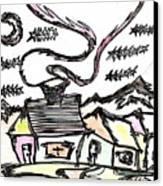 Stitchlip's House Canvas Print by Levi Glassrock