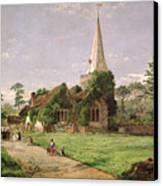 Stoke Poges Church Canvas Print by Jasper Francis Cropsey