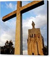 Stone Crucifix Canvas Print by Sami Sarkis