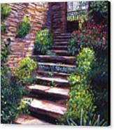 Stone Steps Tuscany Canvas Print by David Lloyd Glover