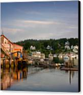 Stonington Lobster Co-op Canvas Print by Susan Cole Kelly