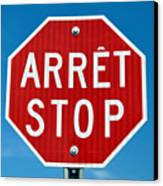 Stop Sign. Canvas Print by Fernando Barozza