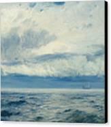 Storm Brewing Canvas Print by Henry Moore