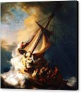 Storm On The Sea Of Galilee Canvas Print by Pg Reproductions