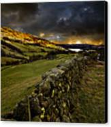 Storm Over Windermere Canvas Print by Meirion Matthias