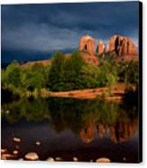 Stormy Day At Cathedral Rock Canvas Print by David Sunfellow