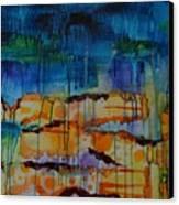 Strata I Canvas Print by Shelli Finch