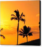 Stretching At Sunset Canvas Print by Dana Edmunds - Printscapes