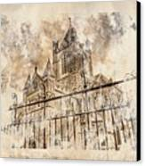 Stroked S.patrick Cathedral Canvas Print by Andrea Barbieri