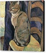 Study Of A Cat Canvas Print by Suzanne Valadon