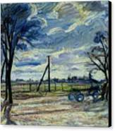 Suburban Landscape In Spring  Canvas Print by Waldemar Rosler