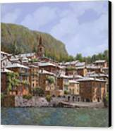 Sul Lago Di Como Canvas Print by Guido Borelli