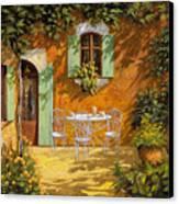 Sul Patio Canvas Print by Guido Borelli