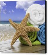 Summer Beach Towels Canvas Print by Amanda And Christopher Elwell