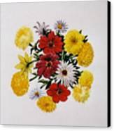 Summer Bouquet Canvas Print by Dy Witt