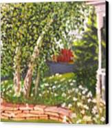 Summer Garden Canvas Print by Lea Novak