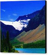 Summer Glacier Over Mountain Lake Canvas Print by Greg Hammond