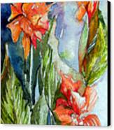 Summer Glads Canvas Print by Mindy Newman