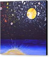 Sun Moon And Stars Canvas Print by Donna Blossom