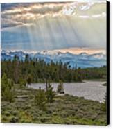 Sun Rays Filtering Through Clouds Canvas Print by Trina Dopp Photography