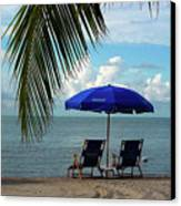 Sunday Morning At The Beach In Key West Canvas Print by Susanne Van Hulst