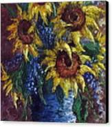 Sunflower Bouquet Canvas Print by David G Paul